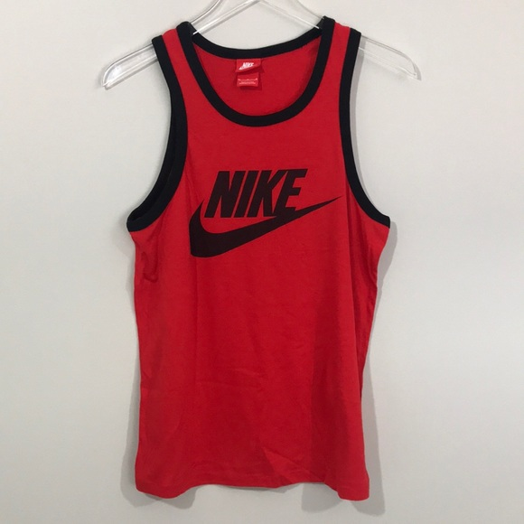 611b55a5f12ae Nike Ace Logo Challenge Red Black Tank Top Men s. M 5a36de593afbbd143e01d465